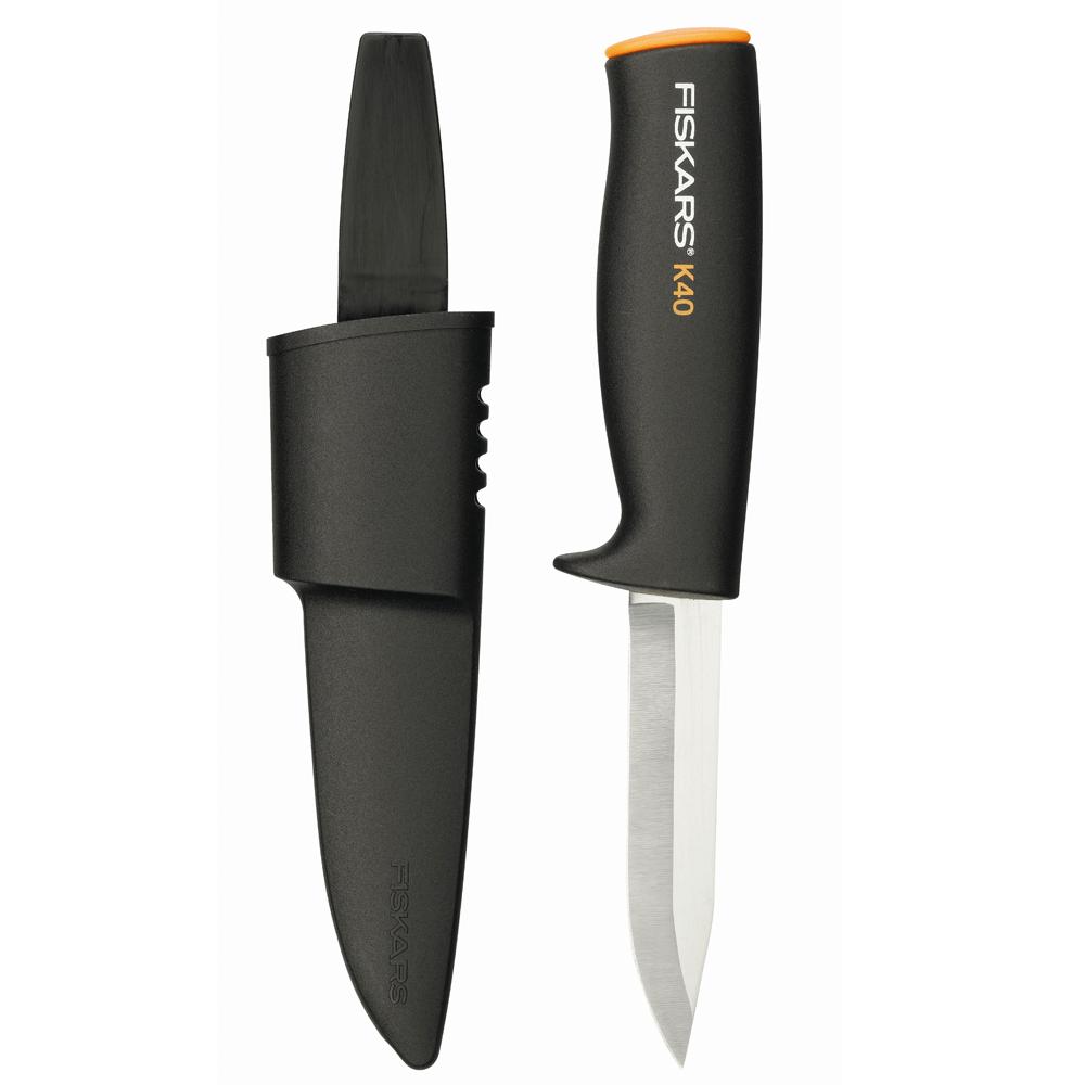Cutit utilitar Fiskars K40, 218 mm, 70 g, inox imagine MatHaus.ro