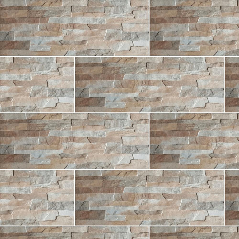 Placa portelanata Quarry Beige 21 x 56 cm, model digital mathaus 2021