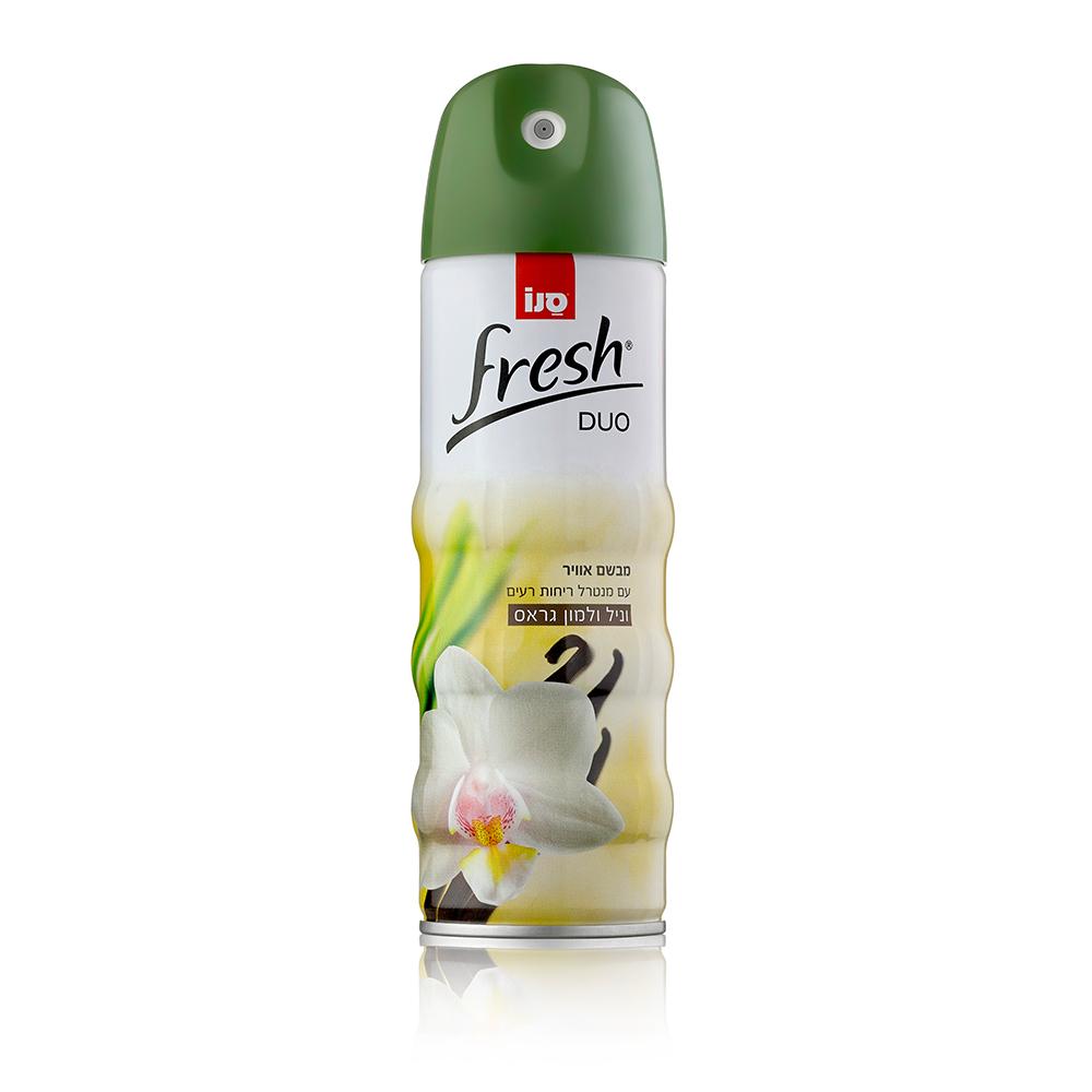 Odorizant de camera cu aerosol Sano Fresh Duo, Vanilla & Lemon, 300 ml imagine MatHaus.ro