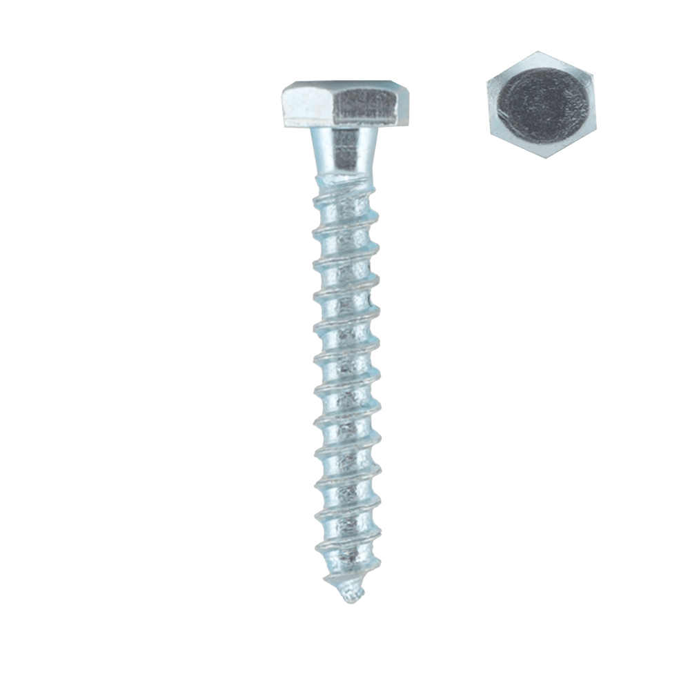 Surub autofiletant, cap hexagonal, otel zincat, 6 x 60 mm, 100 BUC imagine MatHaus