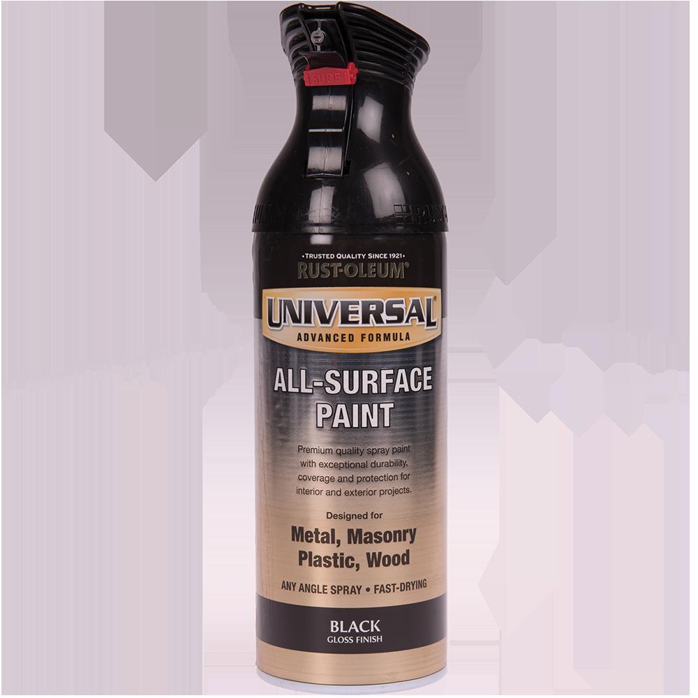 Spray Universal all-surface lucios negru 400 ml imagine MatHaus