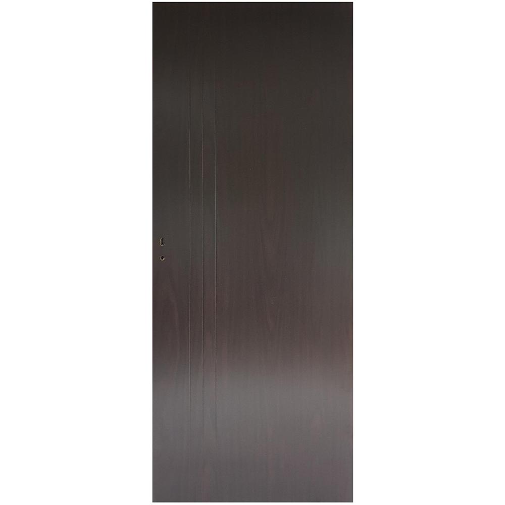 Usa plina interior, Pamate M050, wenge, 203 x 80 x 3,5 cm + toc reglabil, reversibila imagine MatHaus.ro