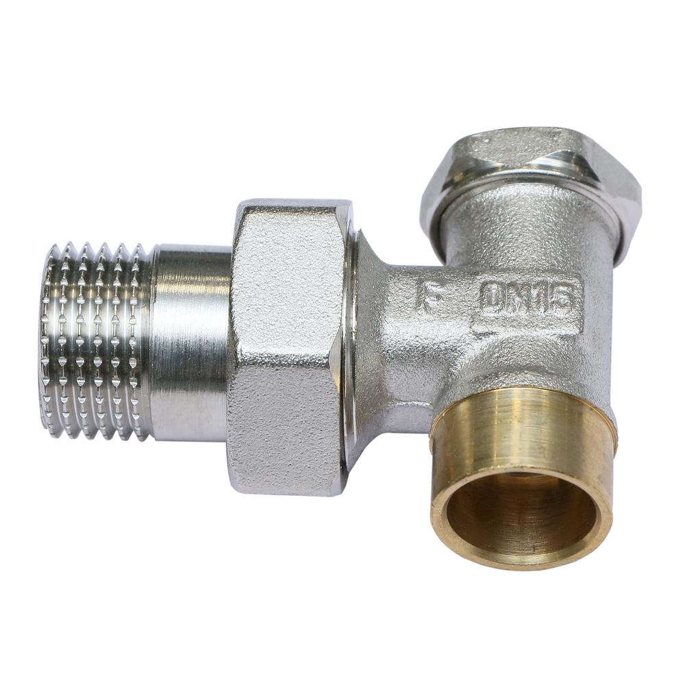 Robinet calorifer retur coltar Ferro ZK2LY, pentru lipire, 1/2 inch x 1/2 inch