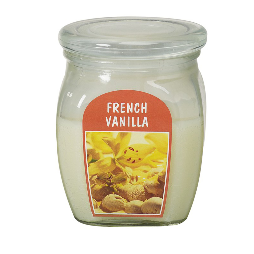Lumanare parfumata Bolsius, crem, vanilie, 120 x 100 mm imagine 2021 mathaus