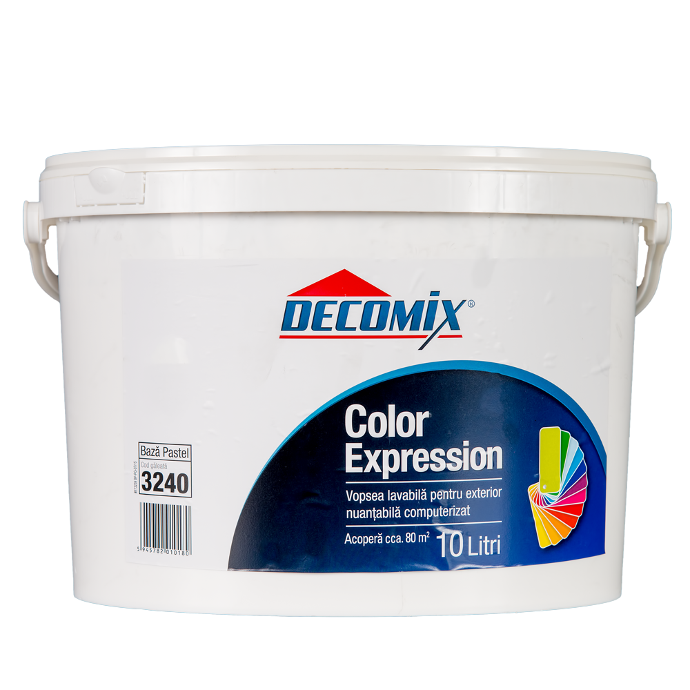 Vopsea pentru exterior Decomix Color Expression Baza Pastel, 10 L