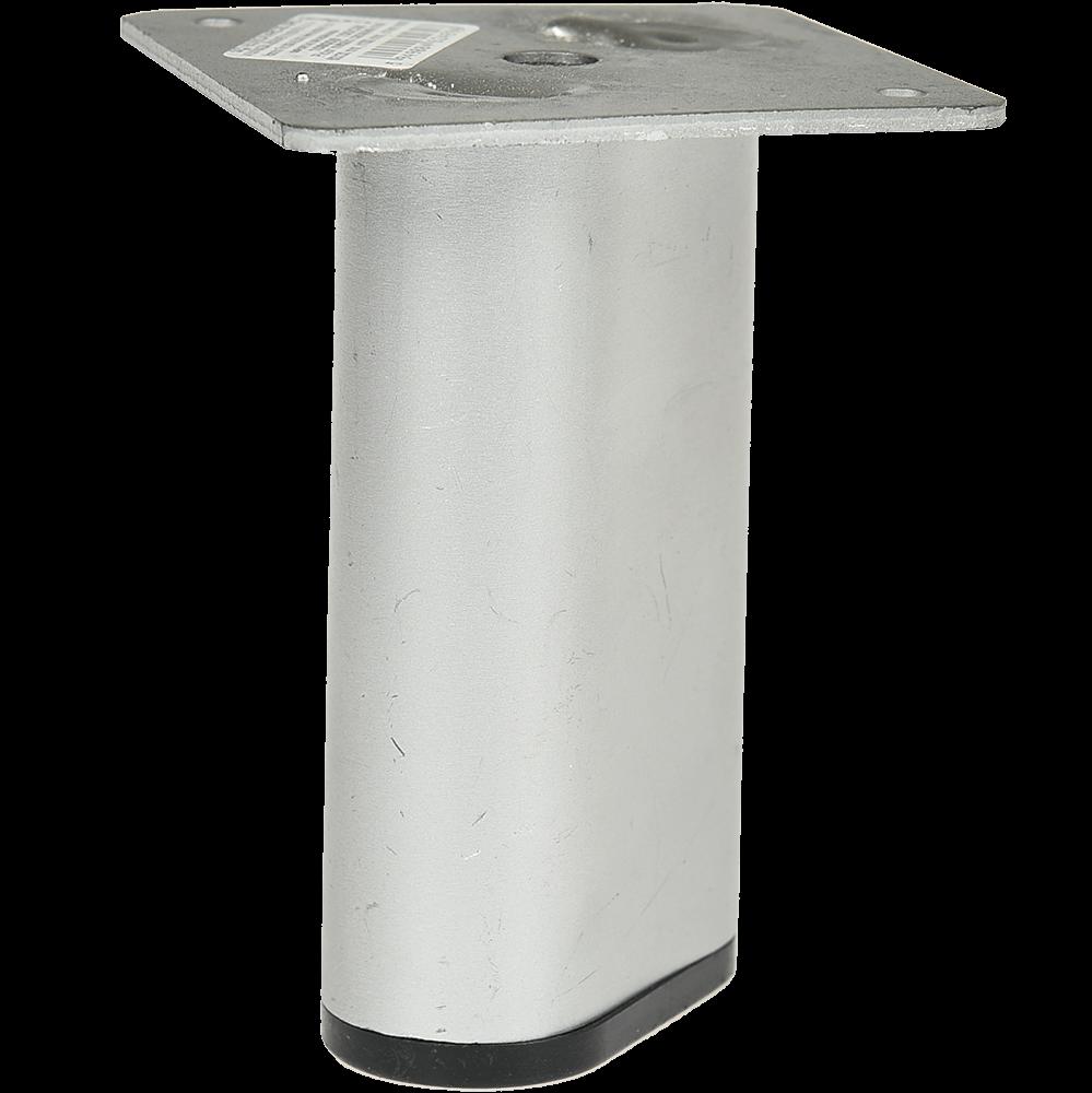 Picior pentru canapea, metal cromat mat,  60 x 30 mm, H: 100 mm imagine MatHaus.ro