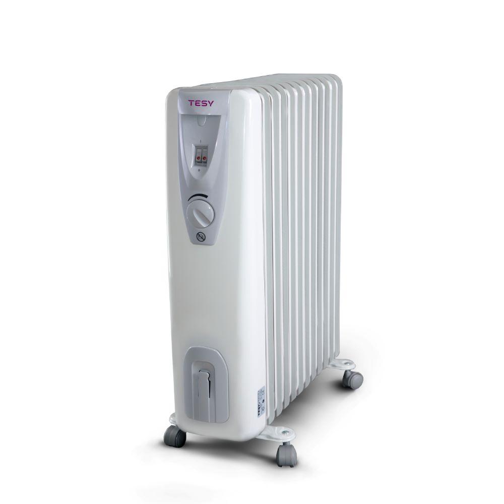Calorifer electric cu ulei Tesy CB 2512 E01R, 2500 W, 12 elementi, 3 trepte incalzire, termostat mecanic, 65 x 29 x 55 cm imagine 2021 mathaus