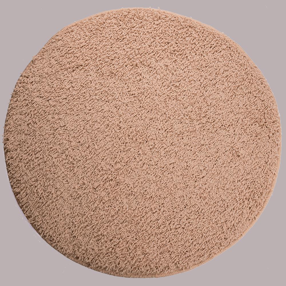 Covor rotund Mistral, 100% polipropilena friese, model modern ivoriu 69, 80 cm mathaus 2021
