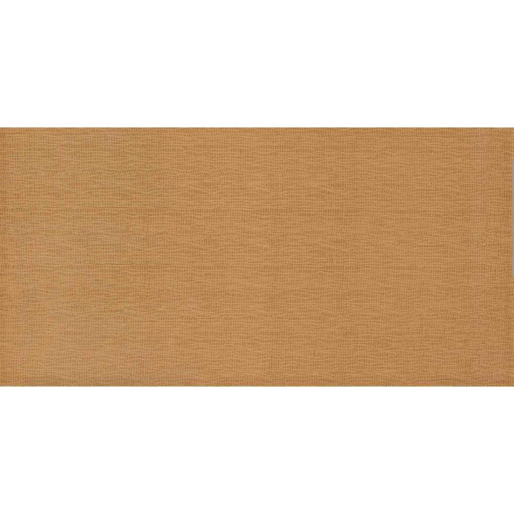Faianta Cesarom Fabric caramel cu design textil, finisaj lucios, 40,2 x 20,2 cm imagine MatHaus.ro