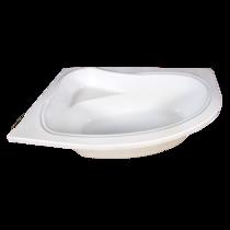 Cada de baie Fibrex Cristal,  acril antibacterian, alb, 1500 x 1000 x 410 mm