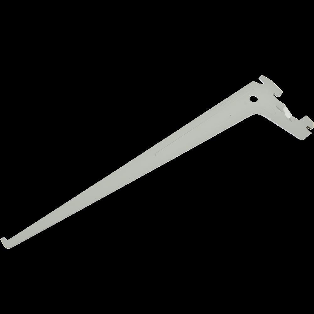 Suport PRO pentru rafturi din lemn, metal sau sticla, L: 500 mm, alb imagine MatHaus.ro