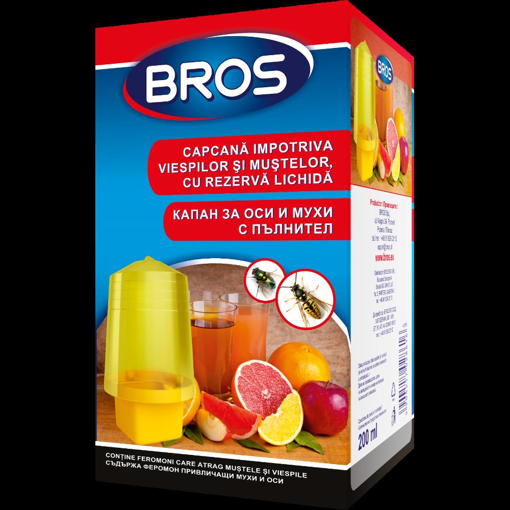 Capcana cu rezerva lichida BROS impotriva viespilor si mustelor, 200 ml