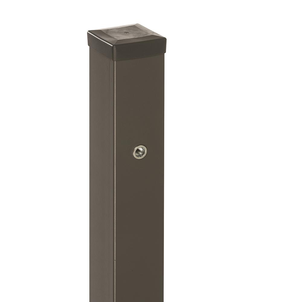 Stalp pentru poarta Cristal, otel galvanizat, gri antracit, 200 x 7 x 7 cm imagine MatHaus
