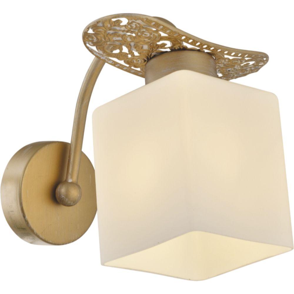 Aplica Goldie, 1 x E27, finsaj auriu, 19 x 16 cm imagine MatHaus.ro