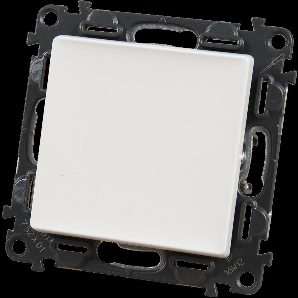 Intrerupator simplu unipolar Legrand 752101, 250 V, 10 A, alb