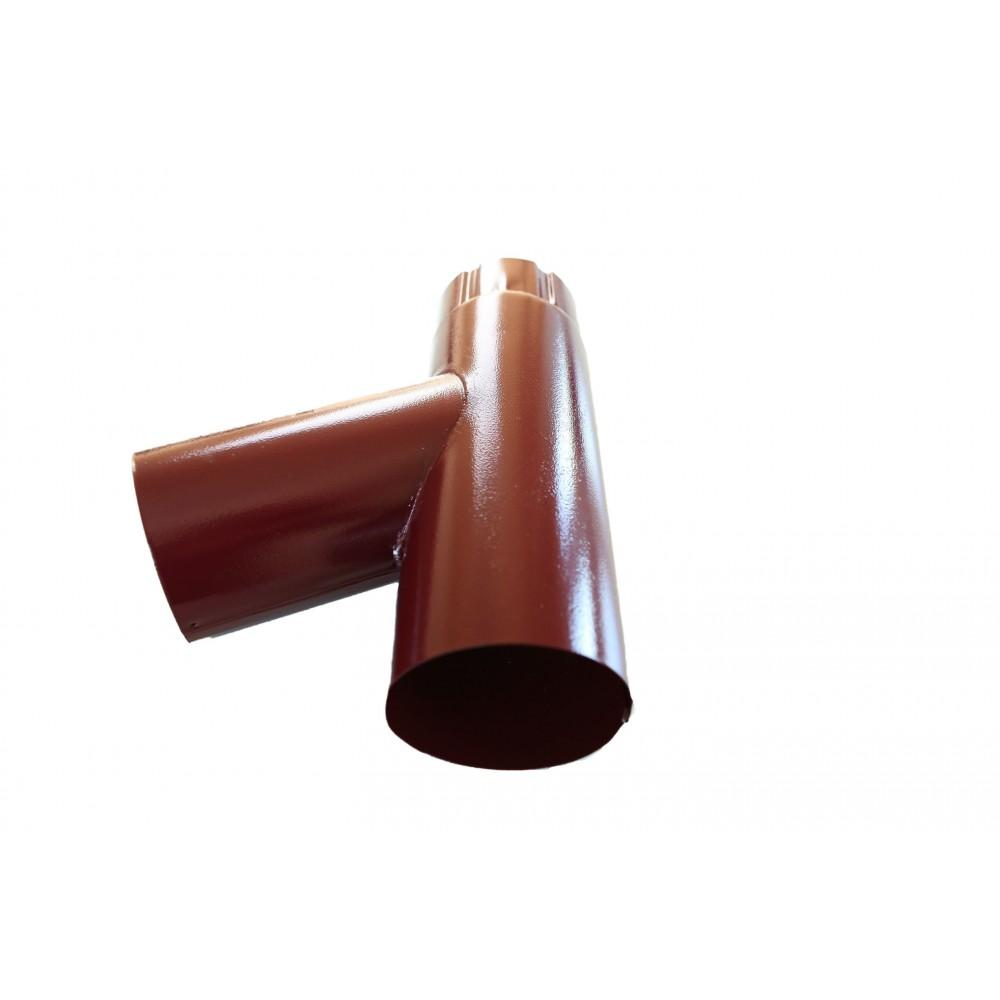 Ramificatie burlan, otel zincat, 125/88 mm, maro RAL 8017