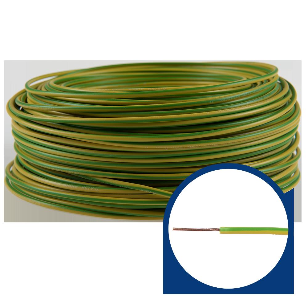 Cablu electric FY/ H07V-U 1,5 mm galben - verde
