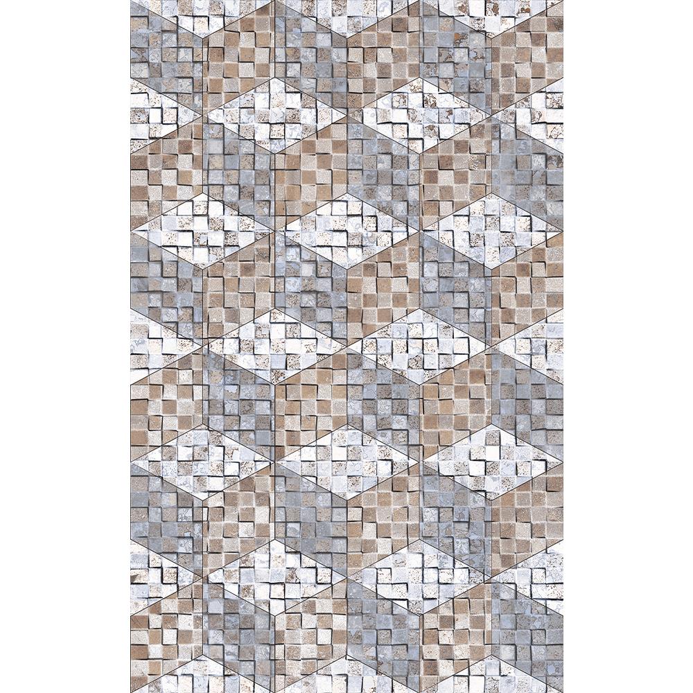 Faianta decorativa Kai Ceramics Orion Rhomb, alb, model romburi, 25 x 40 cm