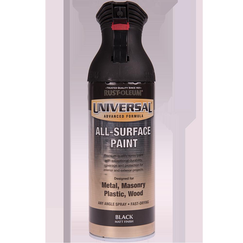 Spray Universal all-surface matt negru 400 ml mathaus 2021