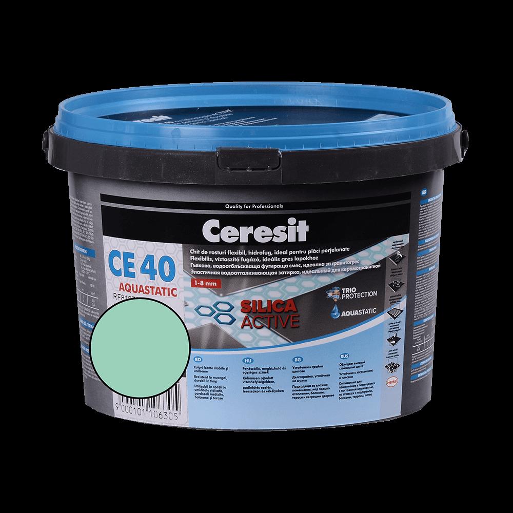 Chit de rosturi gresie si faianta Ceresit CE 40, mint, interior / exterior, 2 kg imagine MatHaus.ro