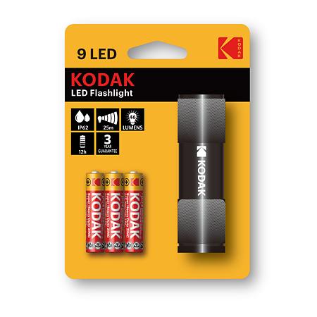 Lanterna 9 LED Kodak, 46 lm, IP62, culoare negru