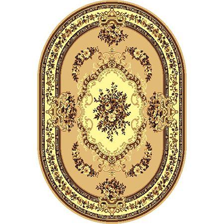 Covor clasic Gold 047/12 O, polipropilena BCF, bej-maro, 180 x 250 cm