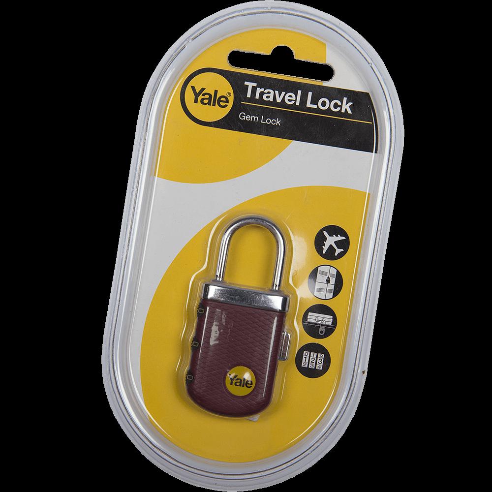 Lacat din zinc, Yale Travel lock, l 31mm, cu cifru imagine MatHaus.ro