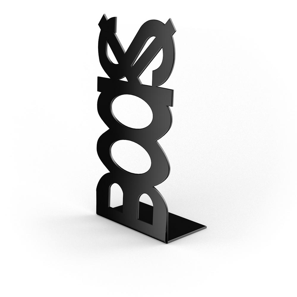 Suport pentru carti BOOKS, negru, 120 x 110 x 210 mm mathaus 2021
