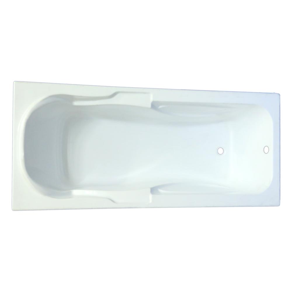 Cada baie Marlene, acril sanitar, alb, 170 x 75 x 43 cm