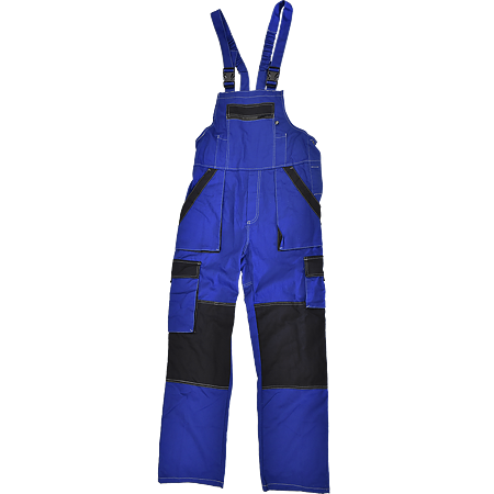 Salopeta pentru protectie Max Summer, bumbac, marimea 50, albastru / negru