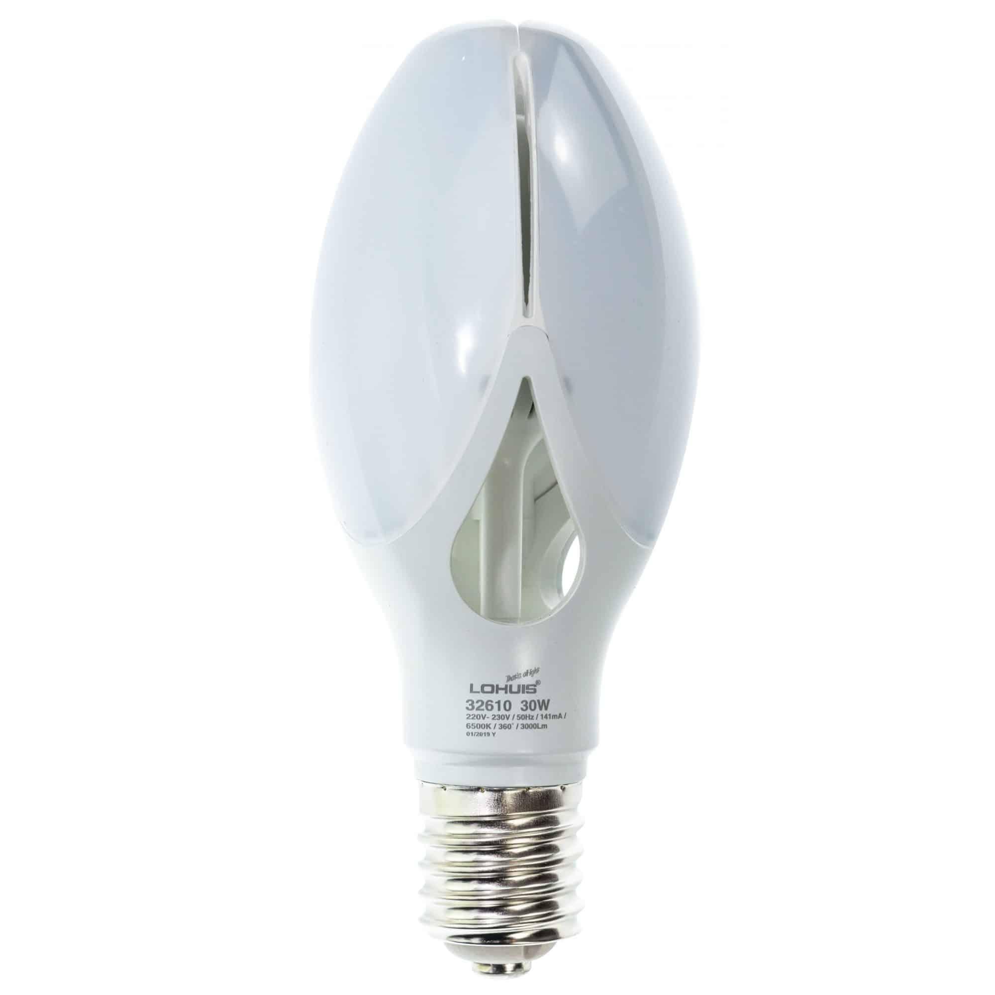 Bec LED Lohuis Flower, E40, 30W, 3000 lm, lumina rece 6500 K mathaus 2021