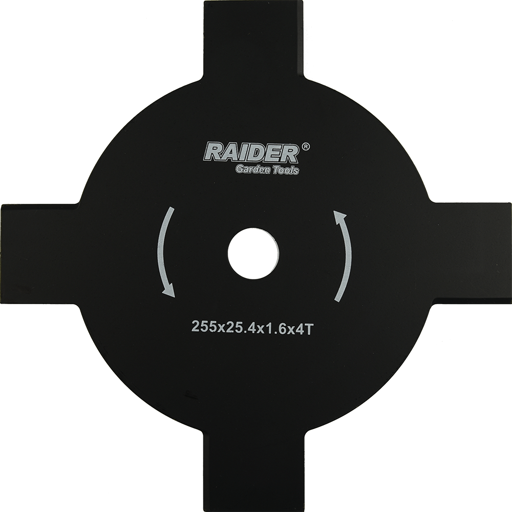 Lama metalica Raider 255 x 25.4 mm cu 4 dinti pentru motocoasa imagine MatHaus.ro