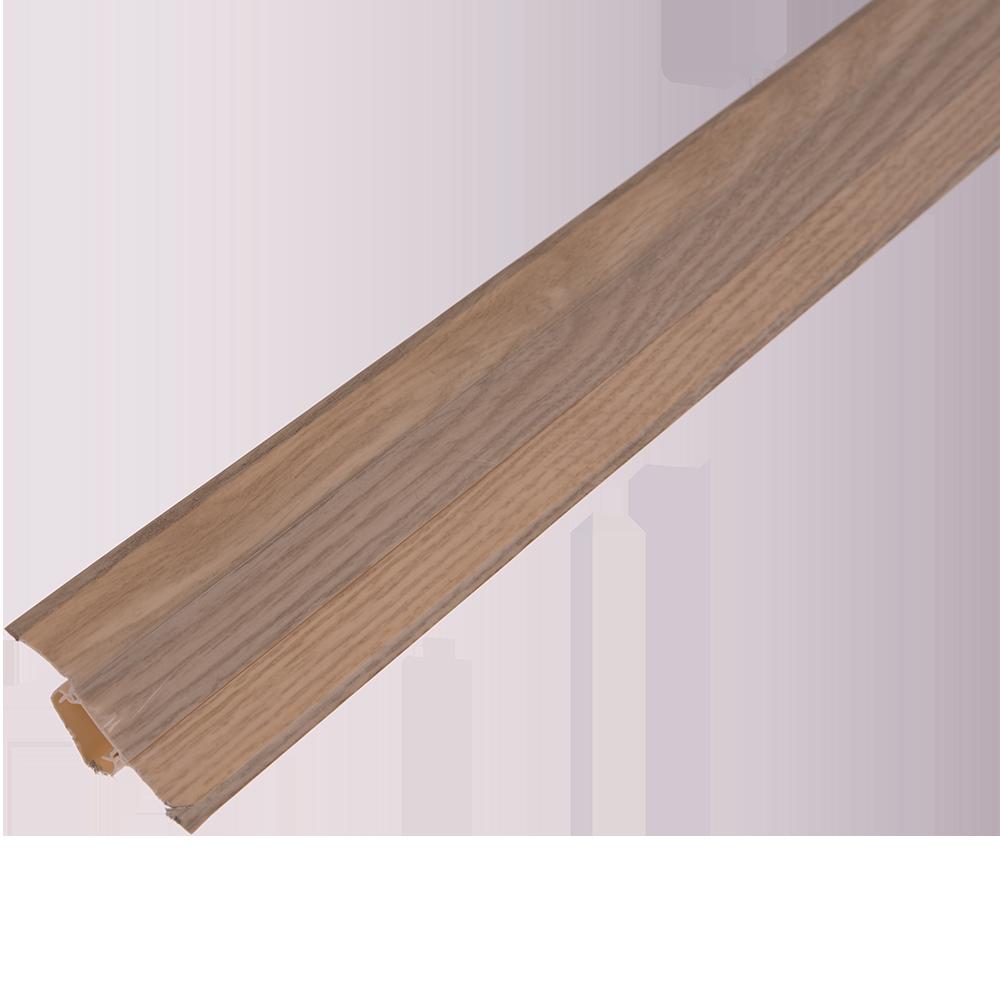 Plinta cu canal dublu, PVC, stejar liverpool, 2500x55x22.5 mm imagine MatHaus