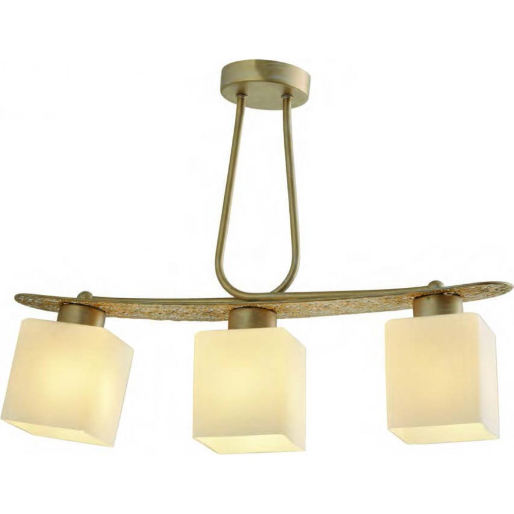 Lustra Goldie, 3 x E27, finsaj auriu, 42 X 10 X 57 cm