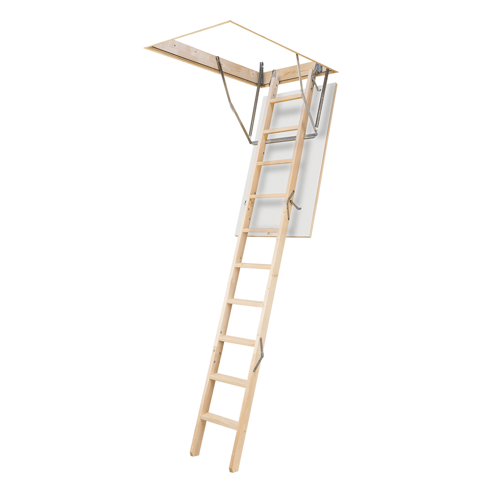 Scara modulara termoizolata, retractabila, lemn, 60 x 120 x 280 cm