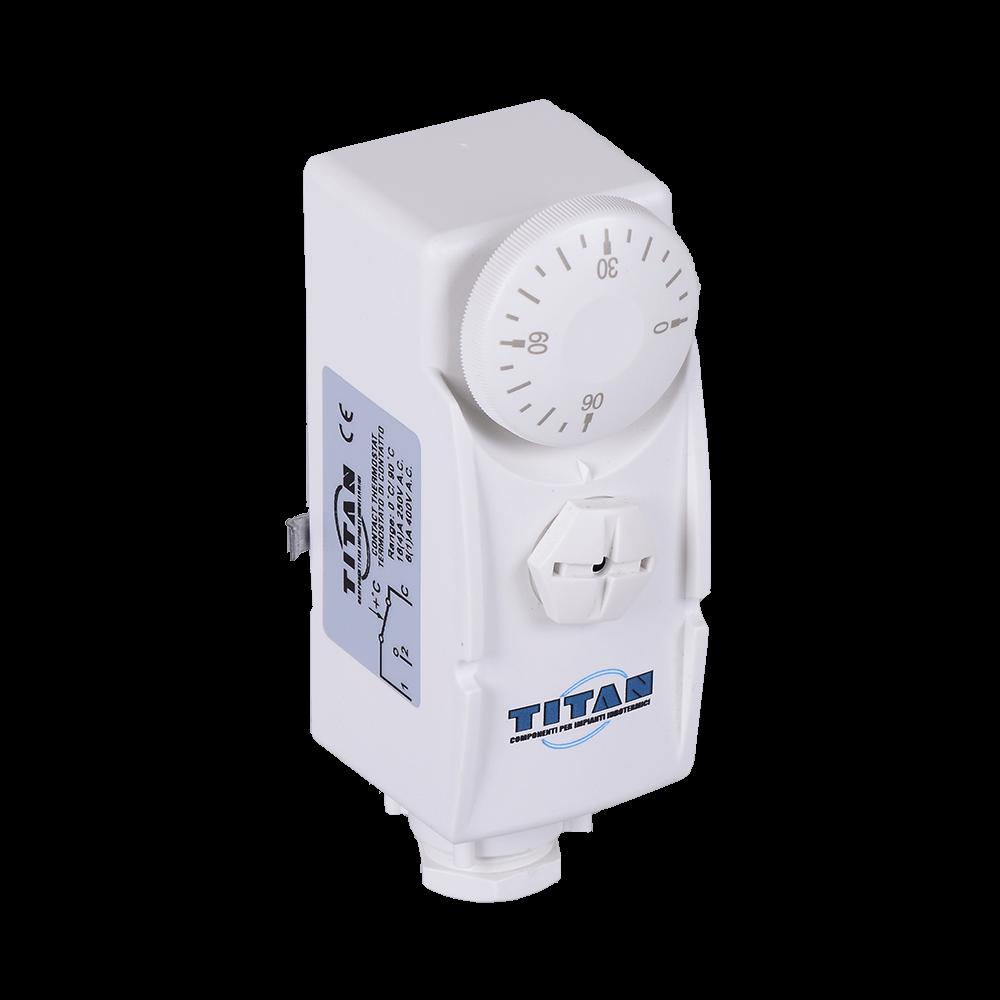 Termostat de contact gri, 230 V imagine MatHaus.ro