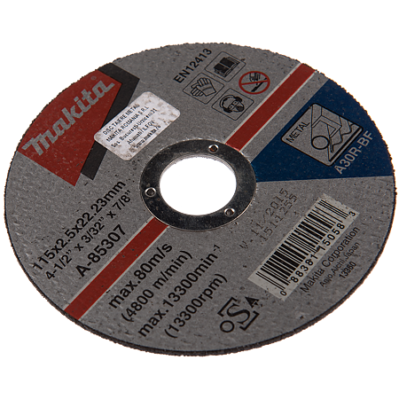 Disc debitare metal, Makita A-85307, 115 x 22 x 2.5 m