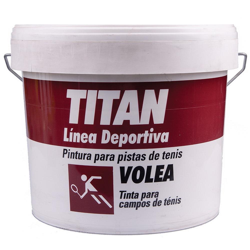 Vopsea acrilica pentru teren de tenis Titan Volea, rosu,interior/exterior, 10l imagine MatHaus