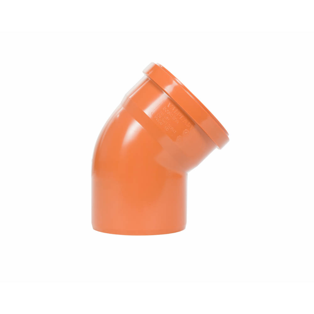 Cot PVC Valplast, DN315/45, canalizare exterioara, portocaliu mathaus 2021