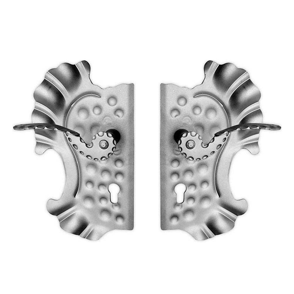 Sild cu maner pentru poarta, fier forjat, 290 x 160 x 2 mm, SET