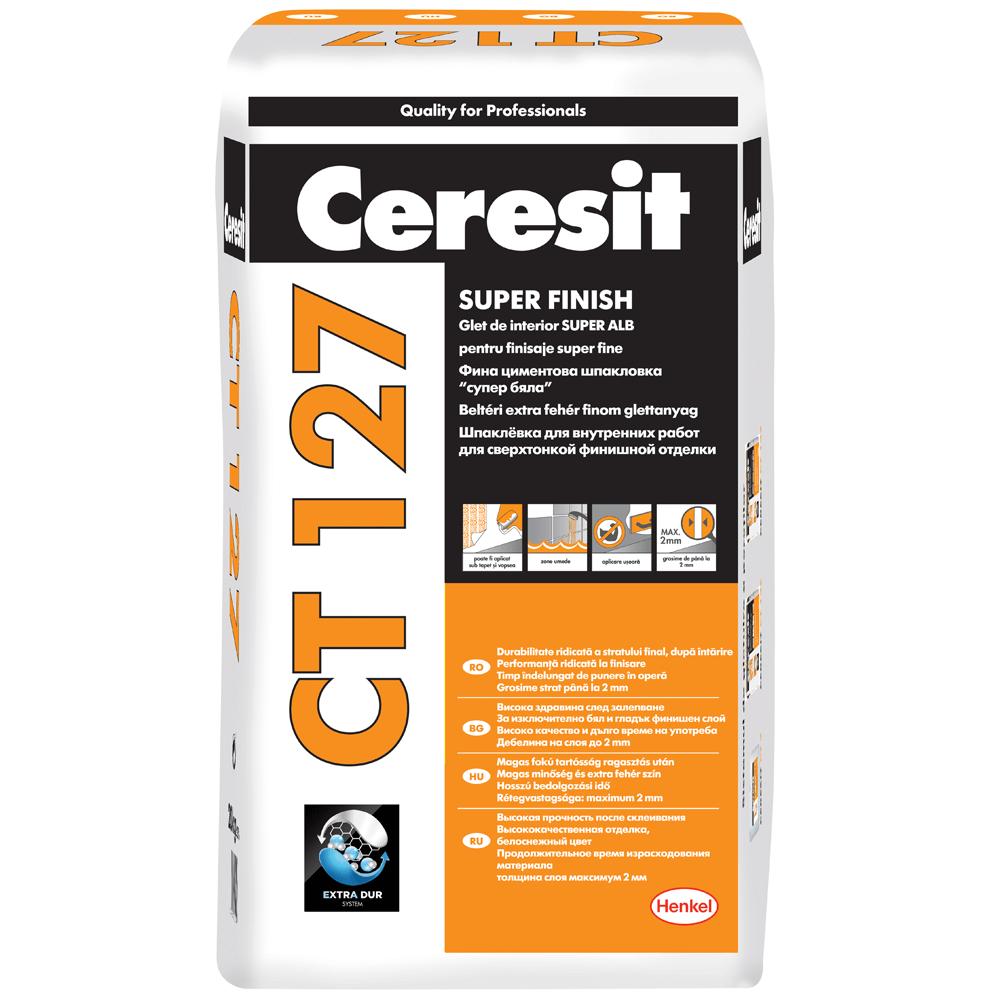 Glet Ceresit CT127 pentru finisaje fine, pe baza de ciment, interior, 20 kg imagine 2021 mathaus