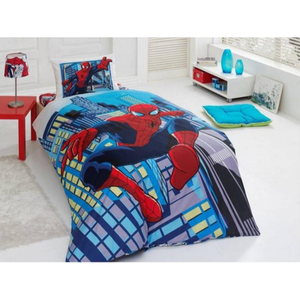 Lenjerie pat copii Spiderman 1, bumbac 100%, 160 x 240 cm imagine 2021 mathaus