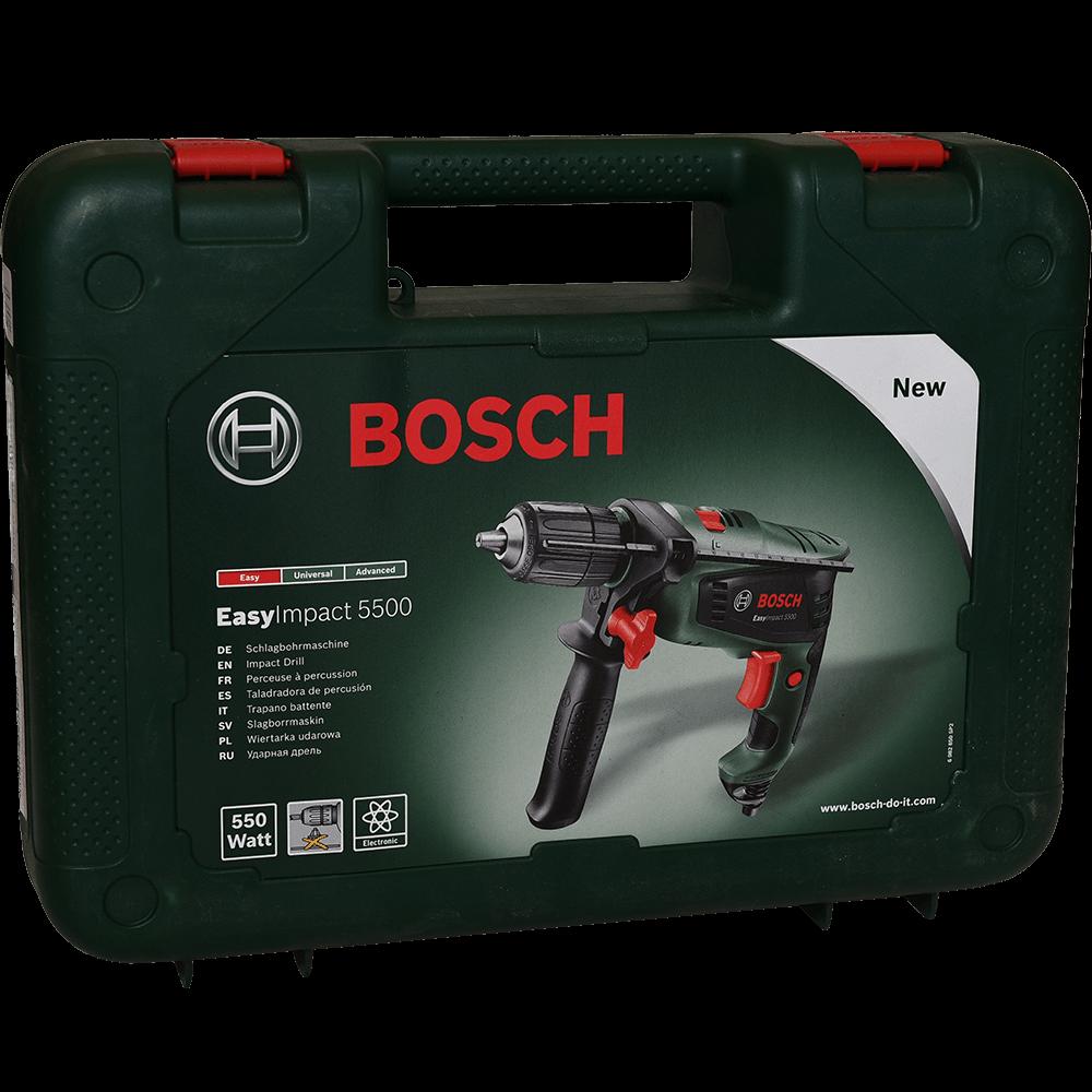 Bormasina cu percutie Bosch EasyImpact 5500, 550W, 3000 rpm imagine 2021 mathaus