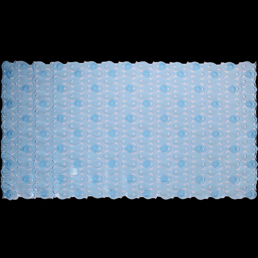 Covoras de baie antiderapant, plastic, bleu, 70 x 36 cm
