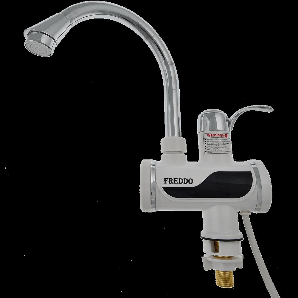 Robinet electric instant Freddo cu afisaj LCD, 3000W, incalzire 3-5 sec, alb-cromat imagine 2021 mathaus