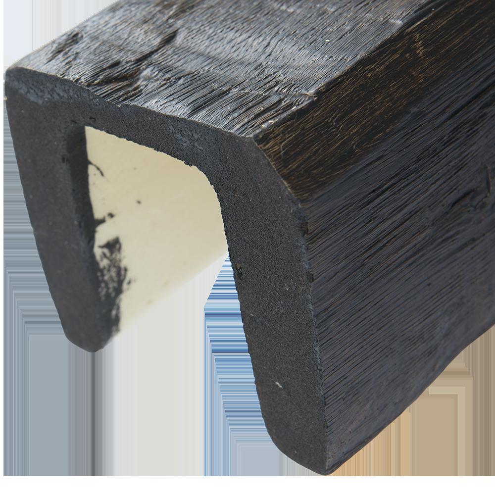 Grinda poliuretan Decosa, aspect de lemn, maro inchis, 12 x 12 x 200 cm