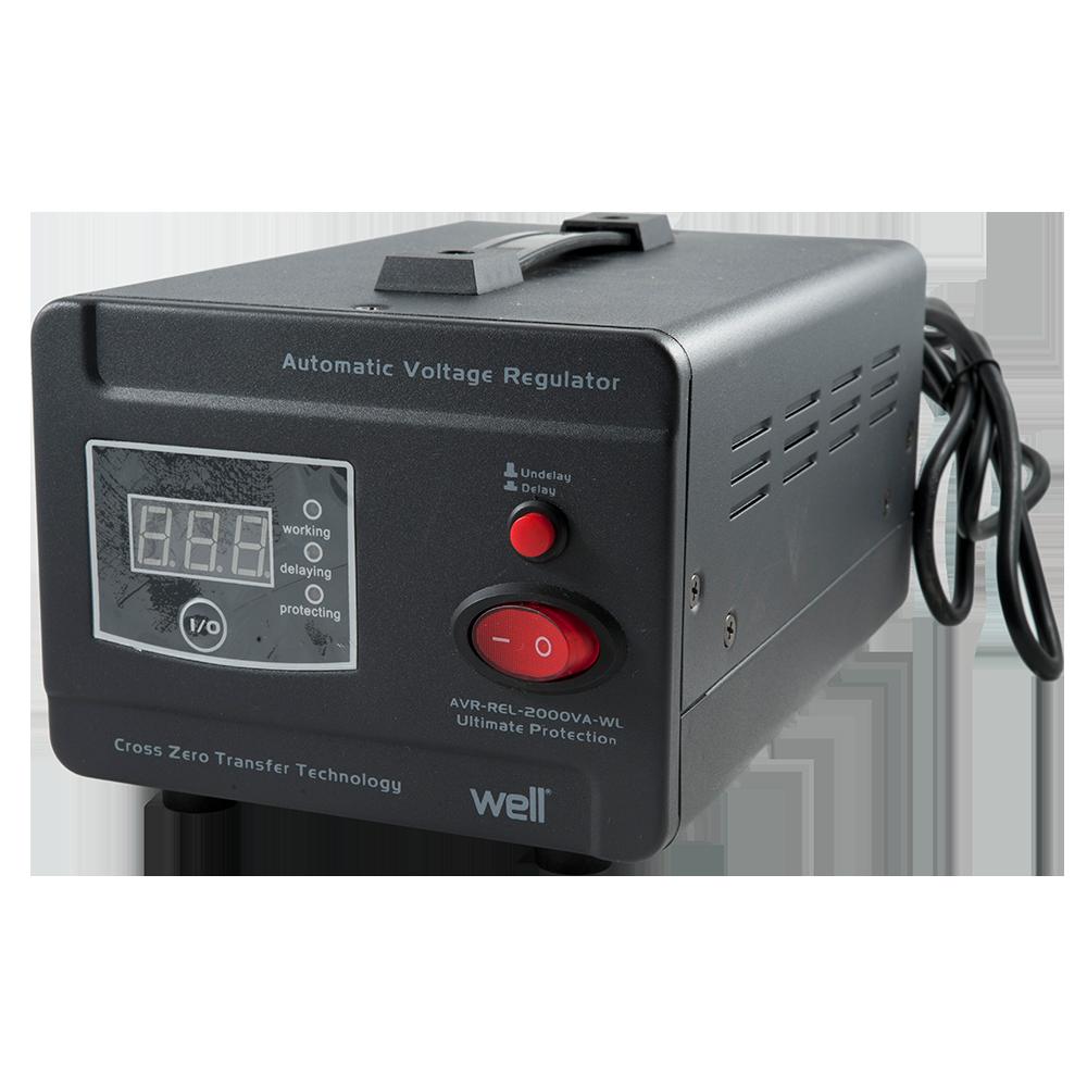 Stabilizator de tensiune cu releu, putere 2000VA/1200W, tensiune intrare 140-260V AC imagine MatHaus