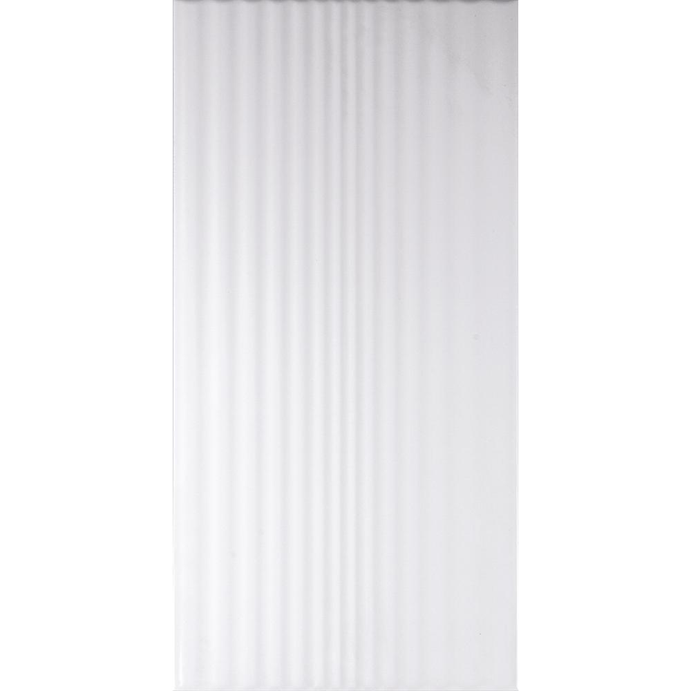 Faianta Kai Ceramics Vogue, alb, decor relief, lucioasa, 25 x 50 cm imagine 2021 mathaus
