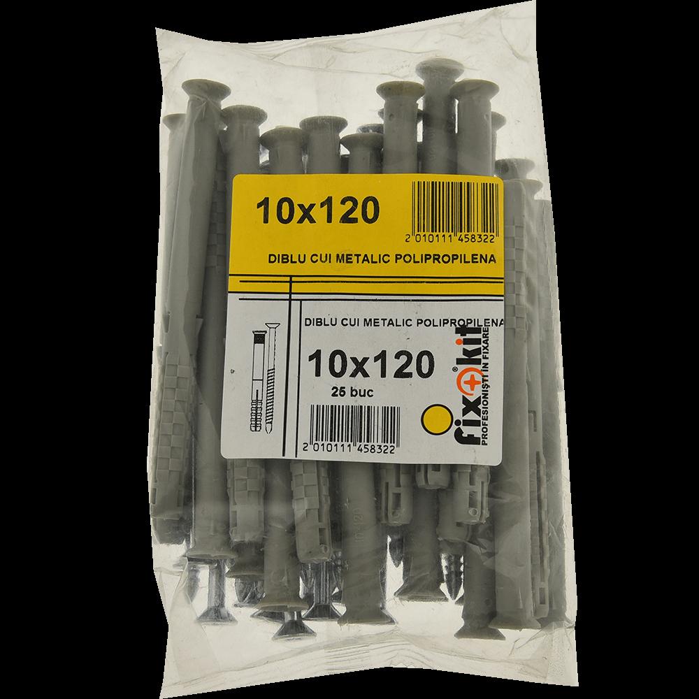 Diblu cui metalic polipropilena, 10 x 120 mm, 25 buc/set imagine 2021 mathaus