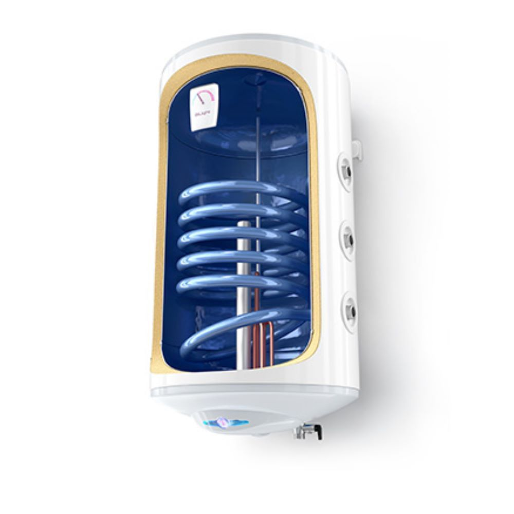 Boiler termoelectric cu serpentina Tesy BiLight, 120 l, 2000 W, alb,  diametru 44 cm imagine 2021 mathaus